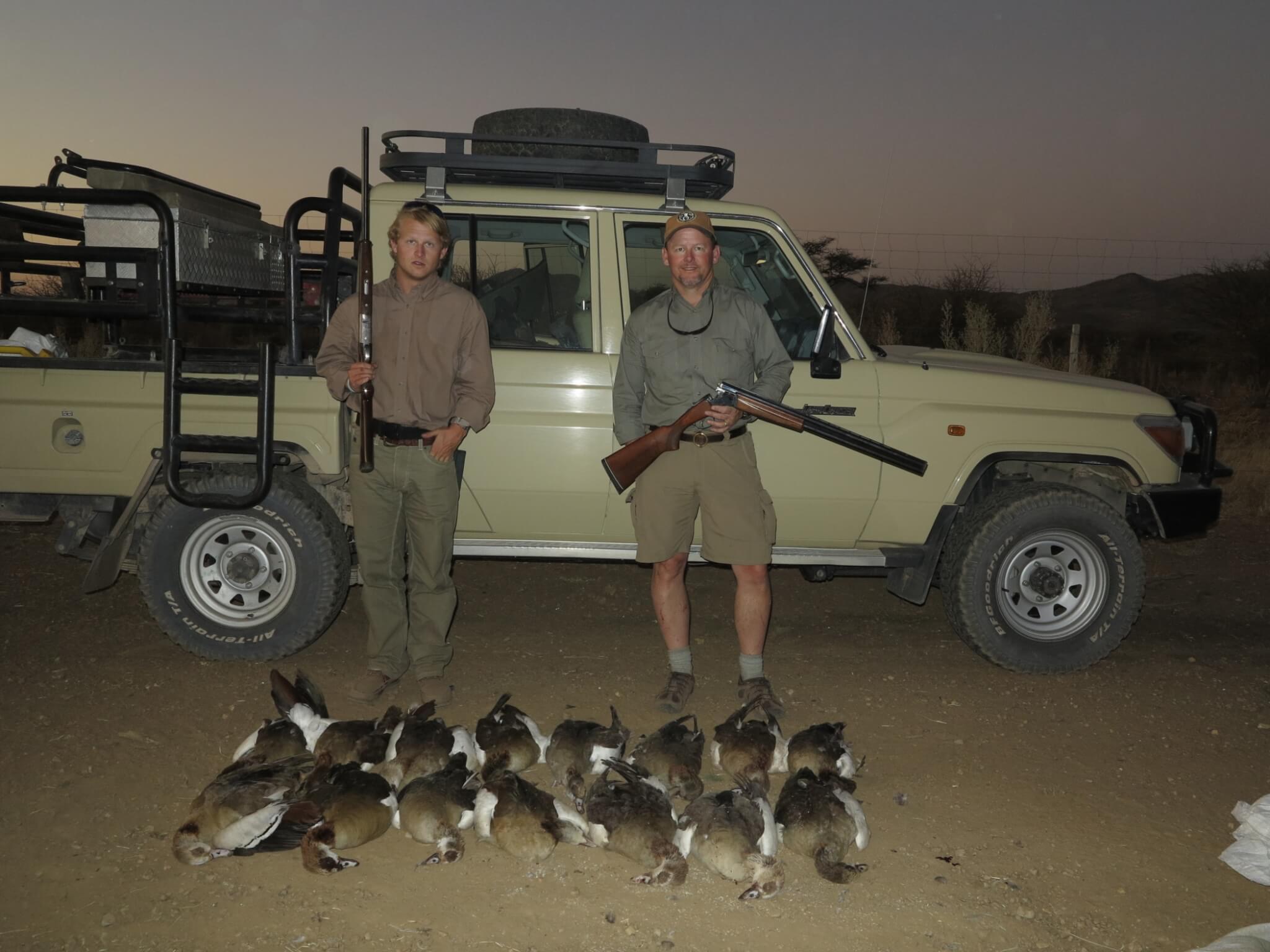 Namibia Wingshooting » Schalk Pienaar Hunting Safaris in Namibia