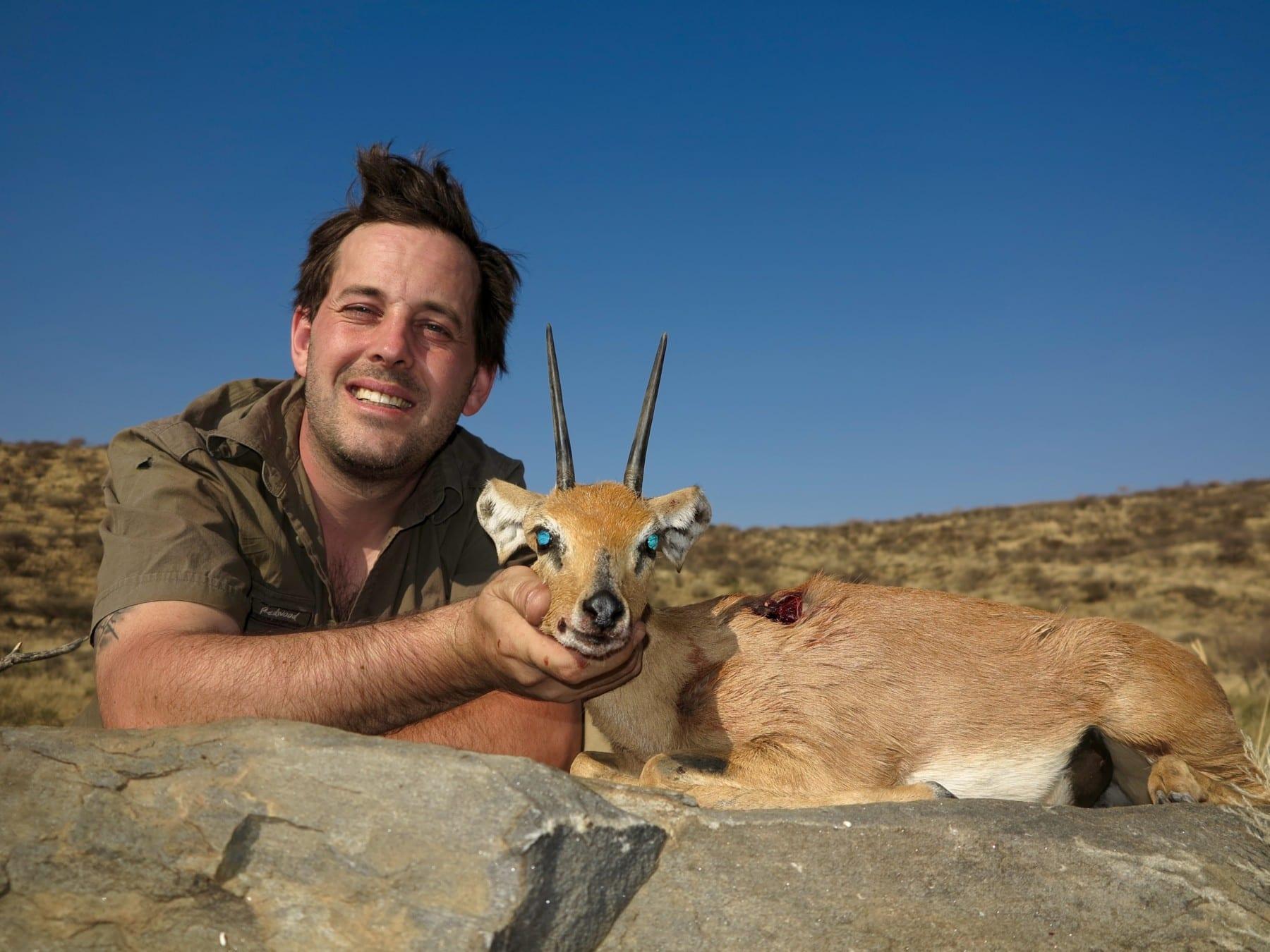 Schalk Pienaar Safaris Namibia ~ Steenbuck hunting trophy