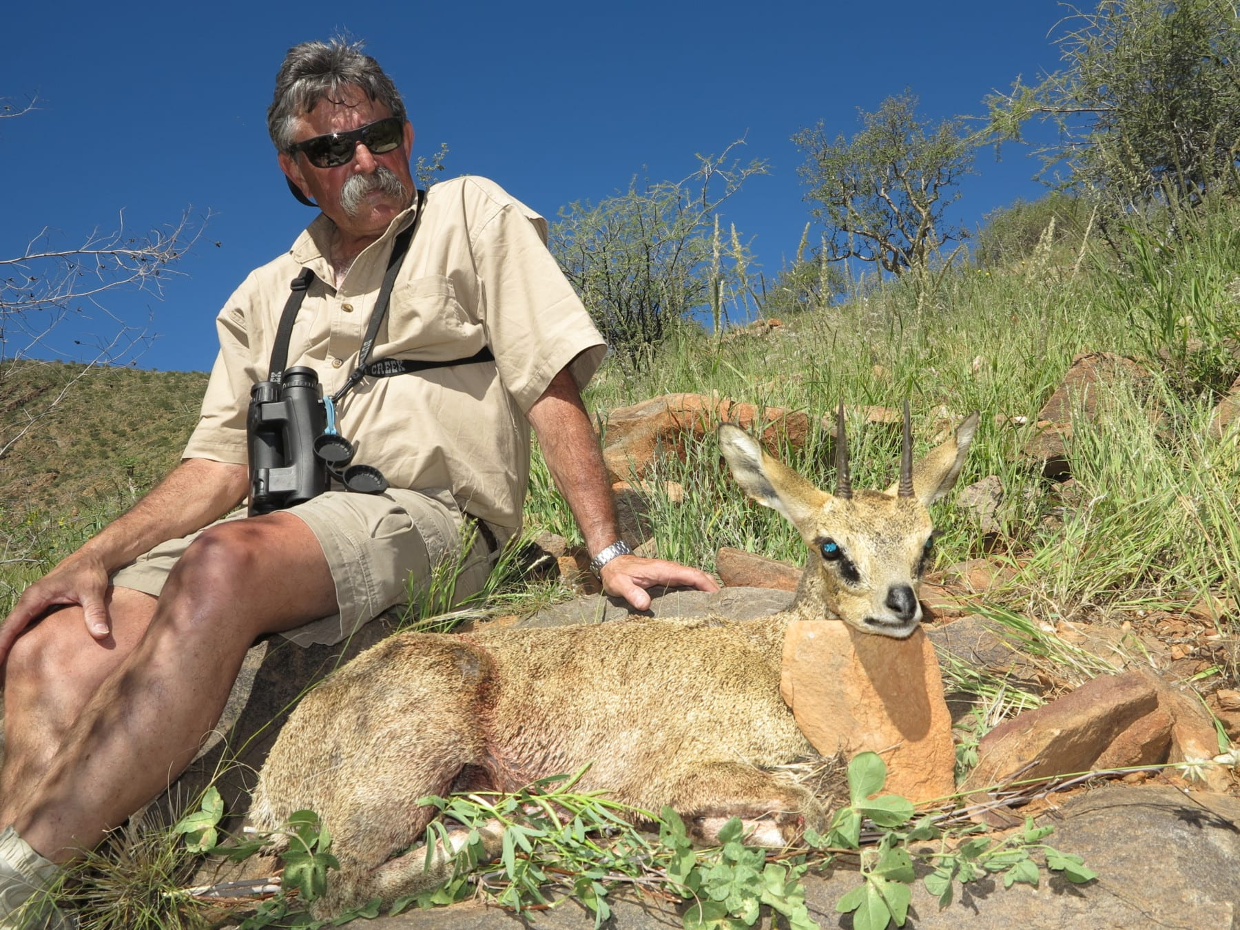 Schalk Pienaar Safaris Namibia ~ Klipspringer hunting trophy