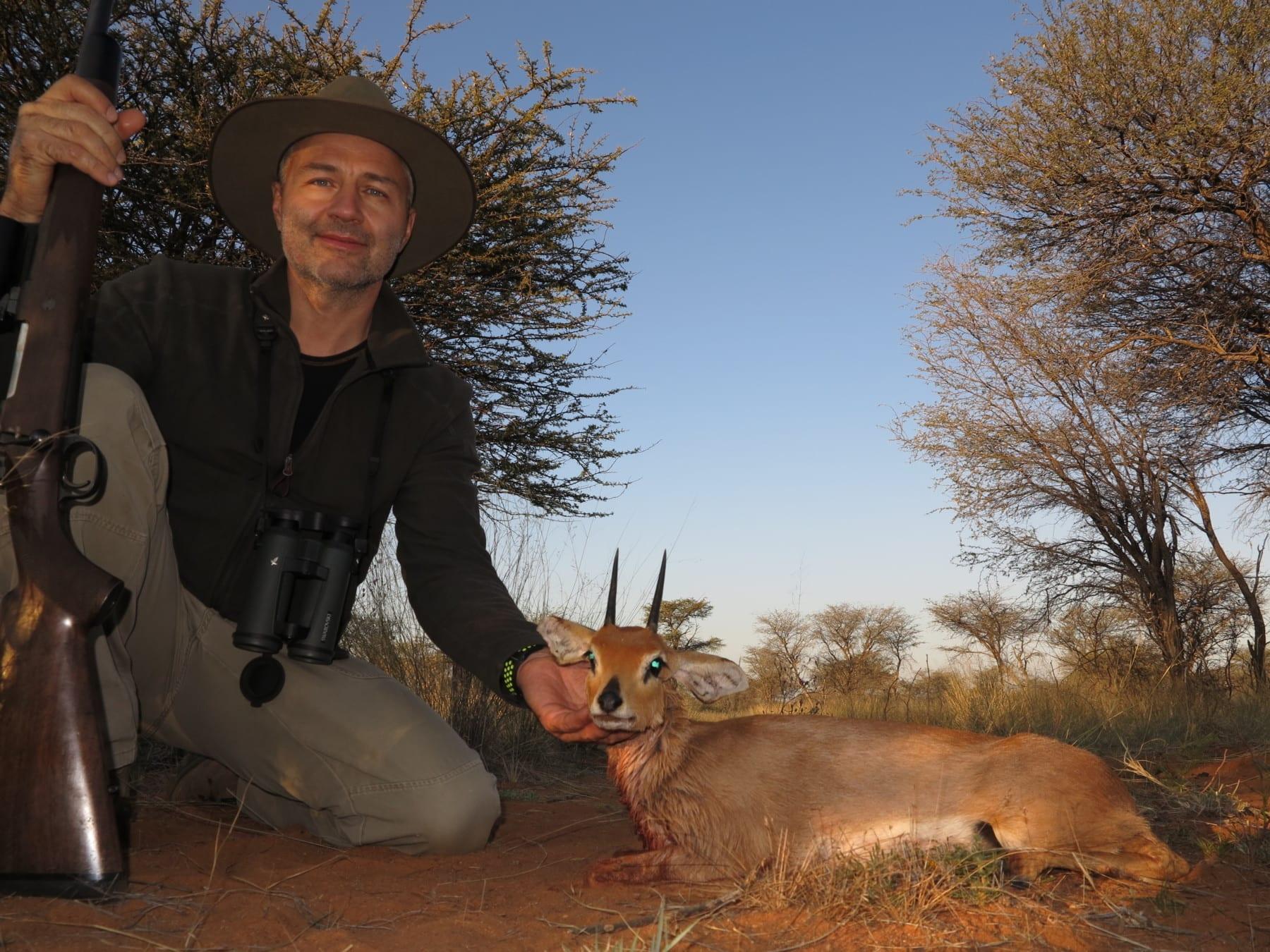 Schalk Pienaar Safaris Namibia ~ Steenbuck trophy