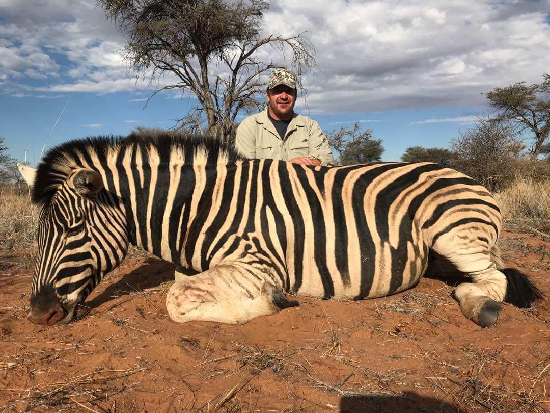 Schalk Pienaar Hunting Safaris Namibia 2018 Trophy ~ Burchell's Zebra