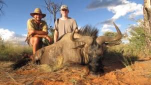 Schalk Pienaar Hunting Safaris Namibia 2018 Trophy ~ Wildebeest