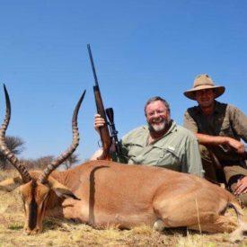 Schalk Pienaar Safaris Namibia ~ Black Faced Impala Hunting