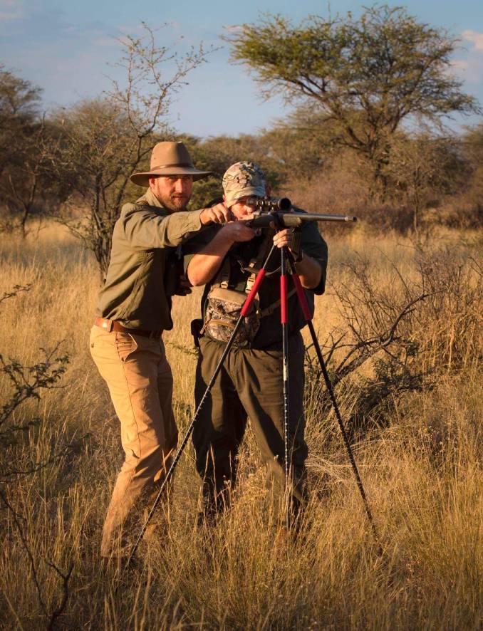 Schalk Pienaar Safaris Namibia ~ Schalk Pienaar Guiding Hunting Client